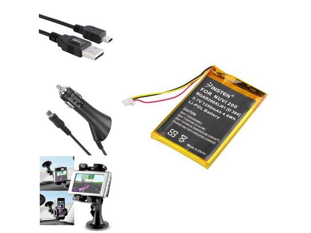 Insten Battery+DC Charger+Holder+USB For Garmin Nuvi 765T 205W - Newegg com