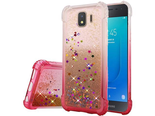 Samsung Galaxy J2 (2019)/J2 Core (J260) Case, by Insten Two Tone Quicksand  Glitter Hard Plastic/Soft TPU Rubber Case Cover For Samsung Galaxy J2