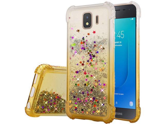 Samsung Galaxy J2 (2019)/J2 Core (J260) Case, by Insten Two Tone Quicksand  Glitter Hard Plastic/Soft TPU Rubber Case Cover For Samsung Galaxy J2