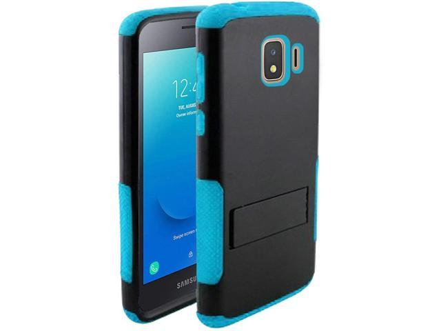 Samsung Galaxy J2 (2019)/J2 Core (J260) Case, by Insten Tough Rugged Dual  Layer [Shock Absorbing] Hybrid Hard Plastic/Soft Silicone Case Cover For