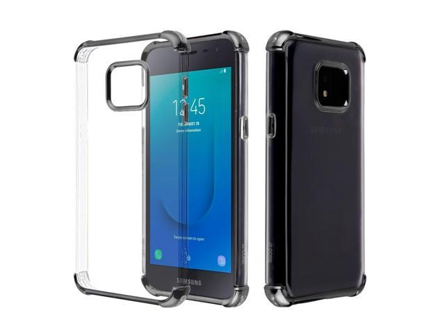 Samsung Galaxy J2 Core (J260)/J2 Pure Case, by Insten Klarion Candy TPU Gel  Case Cover For Samsung Galaxy J2 Core (J260)/J2 Pure, Clear/Black -