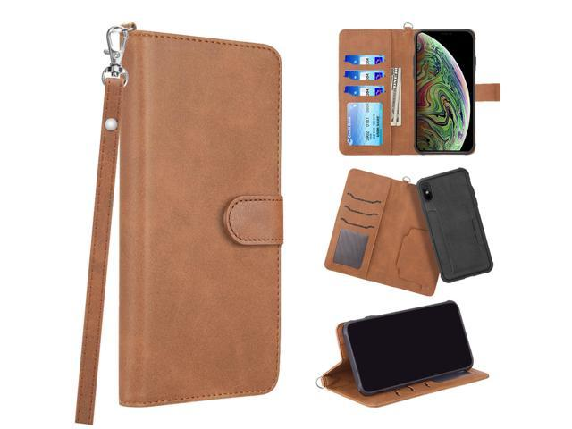 wholesale dealer 2e902 df31d iPhone X Case iPhone XS Case by Insten Stand Book-Style Leather [Card  Holder Slot] Wallet Pouch Case Cover For Apple iPhone X/XS, Yellow -  Newegg.com