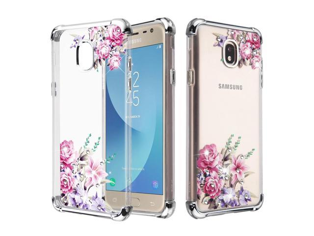 Samsung Galaxy J7 2018 case J7 Refine case J7 V 2nd generation case by  Insten Klarion Candy Romantic Love Flowers Case Cover For Samsung Galaxy J7
