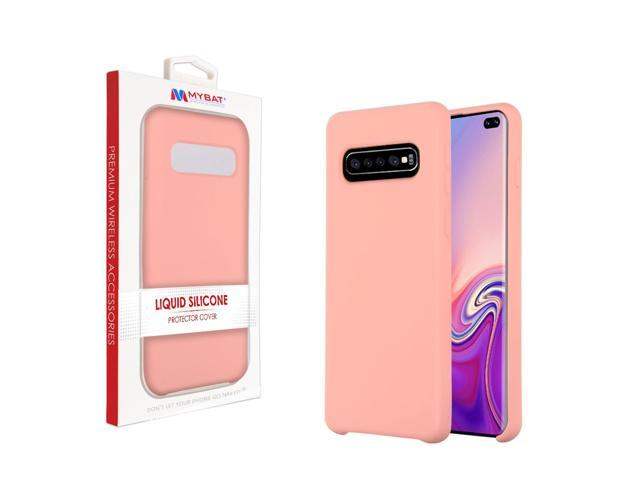Samsung Galaxy S10 Plus Case by Insten Liquid Silicone Rubber Hard Snap-in  Case Cover For Samsung Galaxy S10 Plus, Pink - Newegg com
