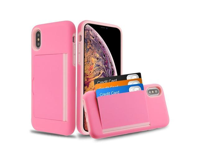 iphone xs max case card holder pink
