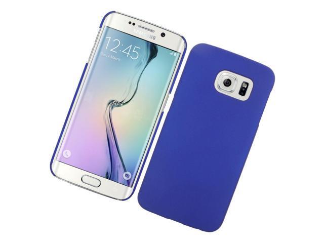 super popular 87e48 09e6e Insten Hard Rubber Cover Case For Samsung Galaxy S6 Edge - Blue - Newegg.com