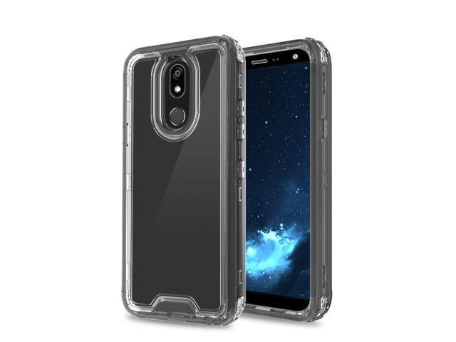 finest selection 4a691 9e127 LG K40 Case by Insten Dual Layer [Shock Absorbing] Hybrid Hard Plastic TPU  Rubber Case For LG K40, Clear/Black - Newegg.com