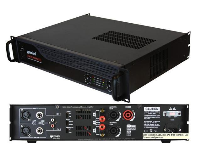 Gemini XGA-3000 Professional Power Amplifier Power Amp - Newegg com