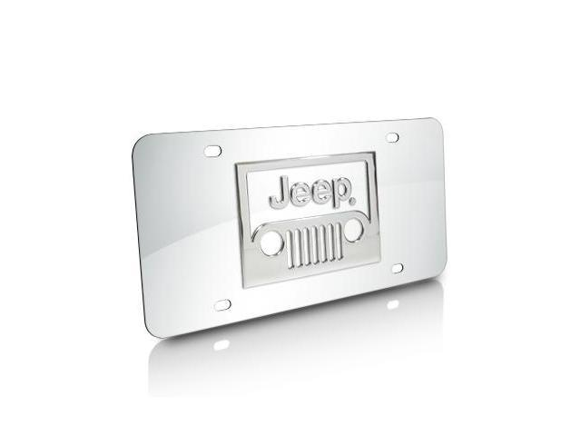 Jeep Grill Logo Chrome Stainless Steel License Plate