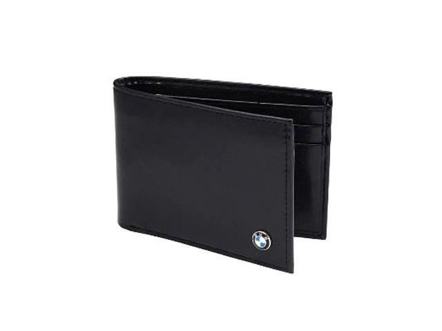 826200e2ef BMW Logo Men s Black Genuine Leather Wallet - Newegg.com