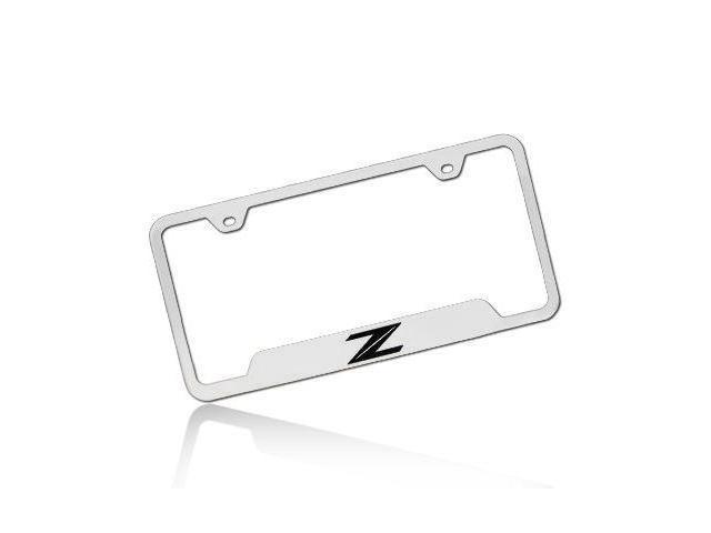 Nissan 370Z Z Logo Polished Steel License Plate Frame - Newegg.com