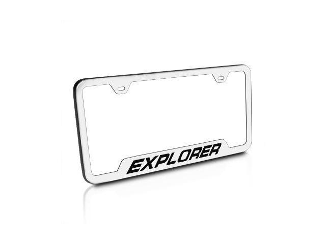Ford Explorer Brushed Stainless Steel License Plate Frame - Newegg.com