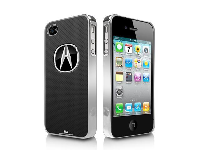 Acura Logo Gray Leather Look IPhone S Chrome Cell Phone Case - Acura phone case