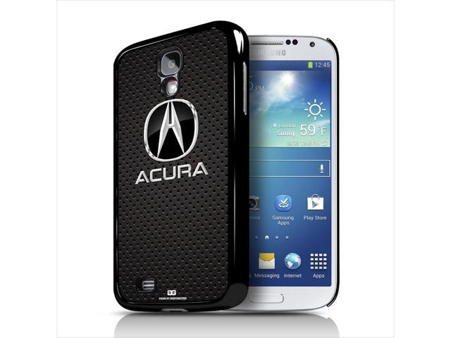 Acura Logo On Perforated Metal Samsung Galaxy S Black Cell Phone - Acura phone case
