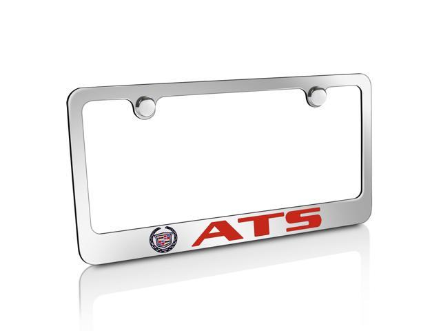Cadillac Logo ATS in Red Chrome Metal License Plate Frame - Newegg.com