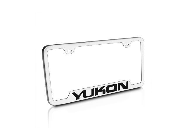 GMC Yukon Brushed Steel Auto License Plate Frame - Newegg.com