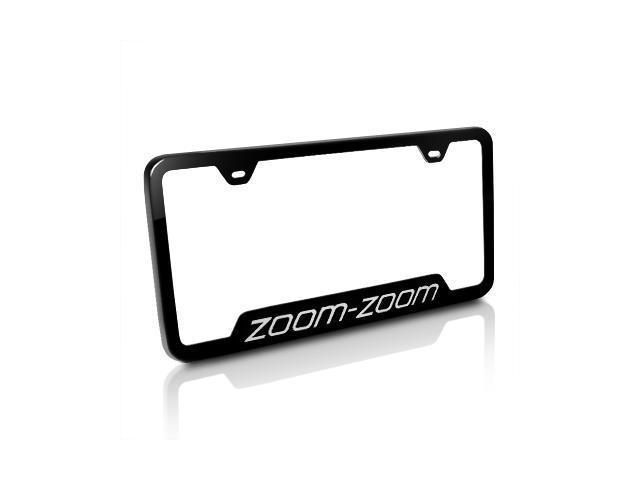Mazda Zoom-Zoom Black Steel License Plate Frame - Newegg.com