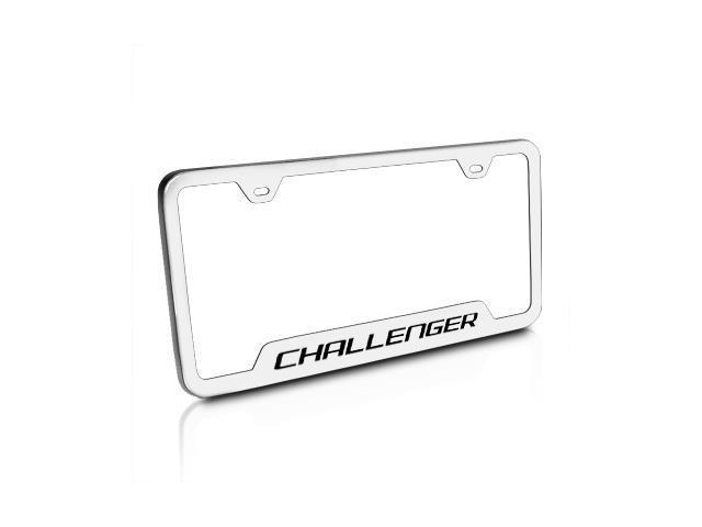 Dodge Challenger Brushed Steel License Plate Frame - Newegg.com