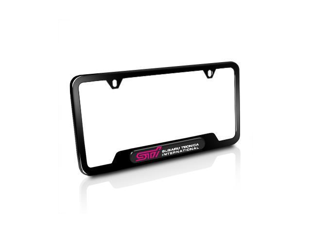 Subaru STi Black Stainless Steel License Plate Frame - Newegg.com