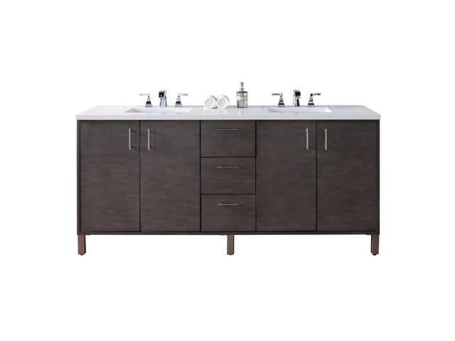 James Martin Metropolitan 72 Double Bathroom Vanity In Silver 3cm Shadow Gray