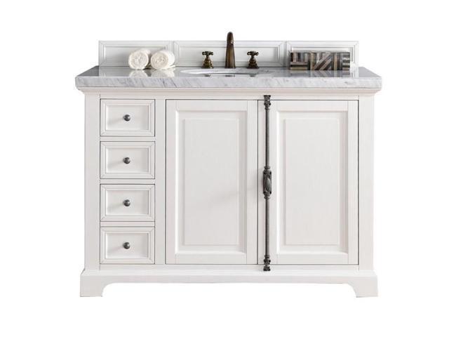 James Martin Providence 48 Single Bathroom Vanity In White No Top