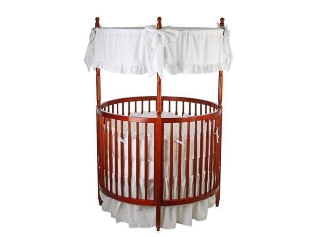 Dream On Me Sophia Posh Circular Crib Cherry 669 C Newegg Com