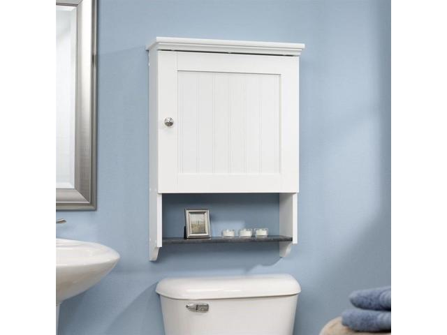 Sauder Caraway Wall Cabinet In Soft White Newegg Com