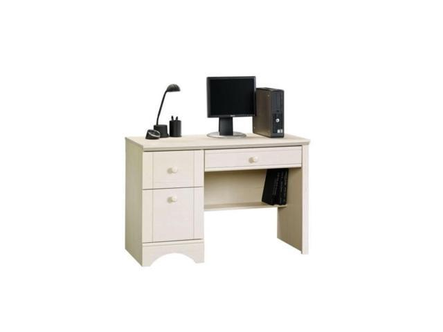 Sauder Harbor View Computer Desk In Antiqued White