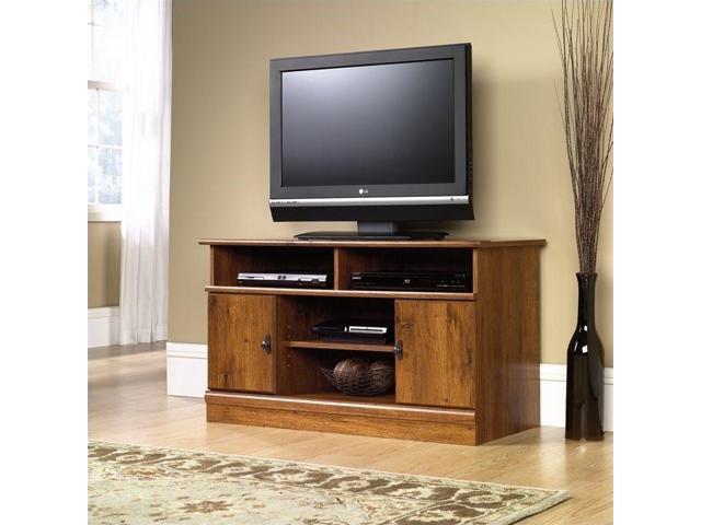 Sauder Harvest Mill Panel Tv Stand Newegg Com