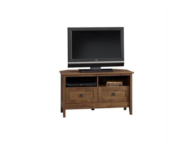 Sauder August Hill Corner Tv Stand In Oiled Oak Newegg Com