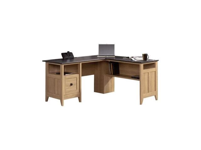 Sauder August Hill L Desk In Dover Oak