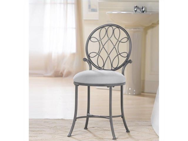 Hillsdale O Malley Vanity Stool In Gray Newegg Com