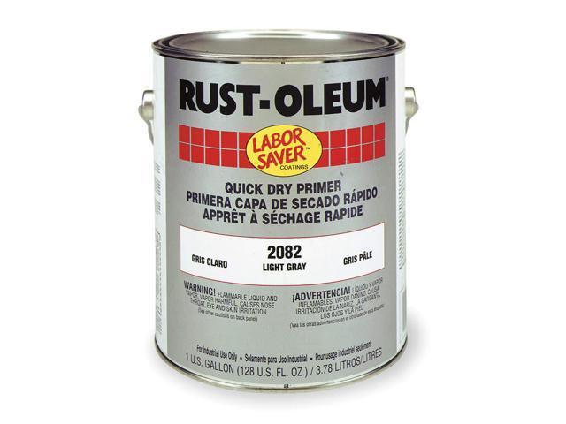RUST-OLEUM 2082402 Rust Inhibitive Primer,Light Gray,1 gal  - Newegg com