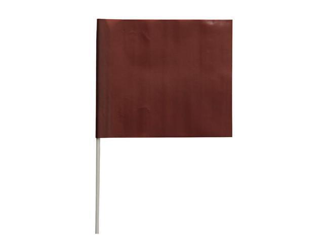 PRESCO PRODUCTS CO F4524BRN-200 Marking Flag,Brown,Blank,PVC,PK100 -  Newegg com