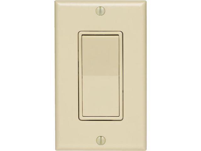 Leviton, 5672-2, Ivory LIGHTED Illuminated Decora Rocker Wall Switch Single  Pole - Newegg com