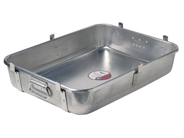 "22-7//8/"" W x VOLLRATH 68253 Satin Aluminum Bake and Roast Pan with Handles"