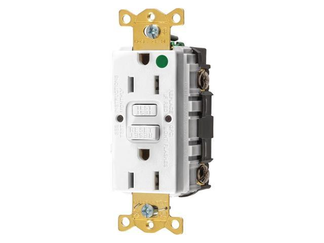 Surprising Hubbell Wiring Device Kellems Gfrst82W Gfci Receptacle 15A 125Vac 5 Wiring Digital Resources Funapmognl