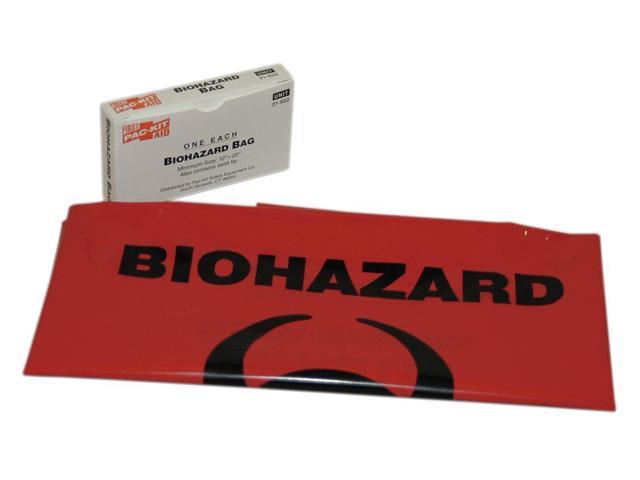 FIRST AID ONLY 21-022B1G Biohazard Bags,7 to 10 gal.,Red