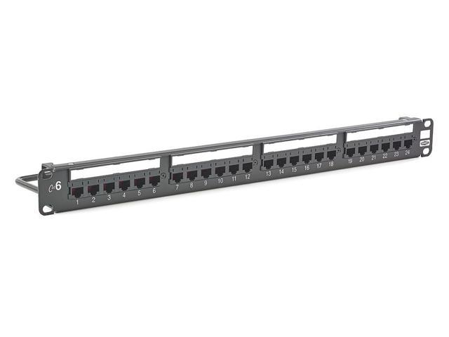 hubbell premise wiring hp624 patch panel flat panel 6 category steel rh newegg com Hubbell Premise Wiring FPR3 Rackmount Hubbell Premise Wiring Catalog
