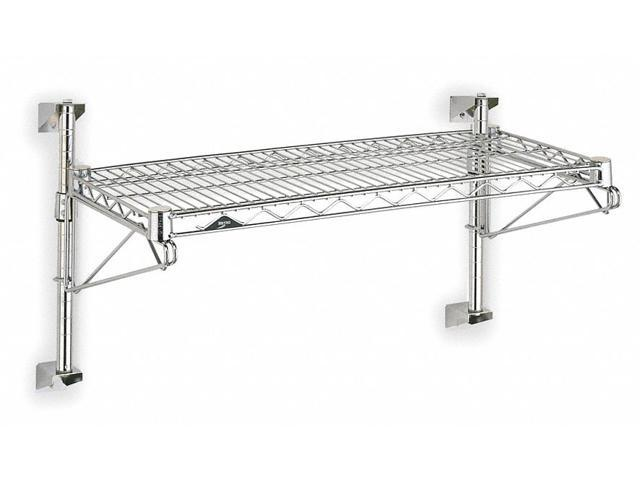 Wall Mounted Wire Shelving, Chrome ,Metro, SW51C-1-2436 - Newegg.com