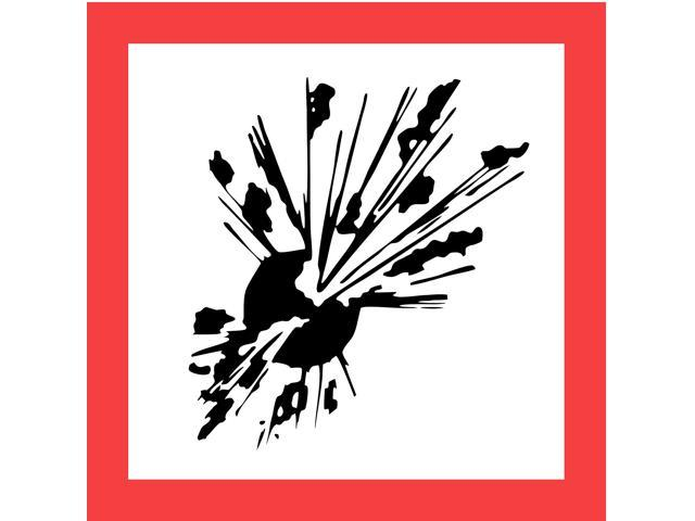 GHS SAFETY GHS1268 Pictogram,Black/Red,Self Adhesive Vinyl - Newegg com
