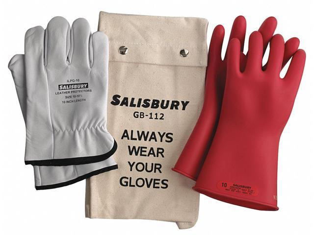 Salisbury Red Electrical Glove Kit Natural Rubber 0