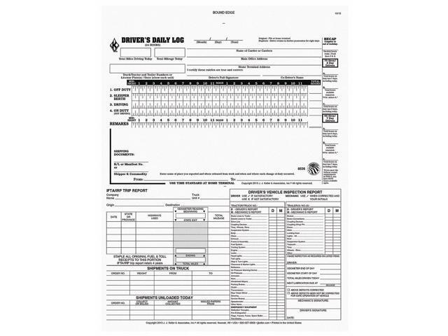 Jj Keller Carbonless Drivers Daily 5 In 1 Logbook, Number of Plies 2 8536 -  Newegg com