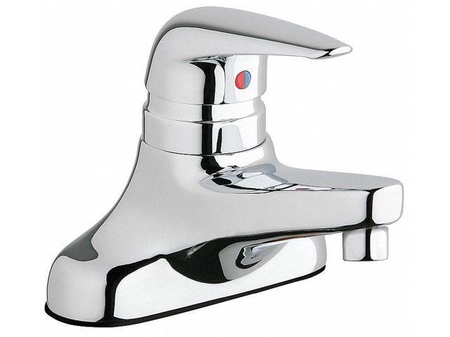 Rigid Cast Bathroom Faucet Chrome Plated Holes ADA Compliant - Ada compliant bathroom faucets