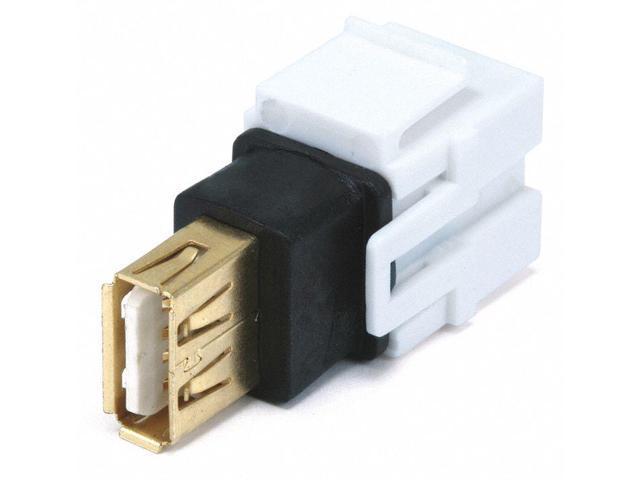 Keystone Jack Flush Type 2 Pack White 3.5mm Stereo