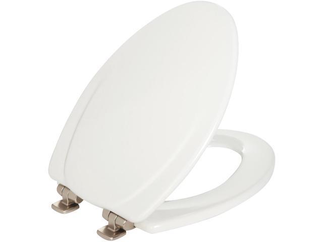 Peachy 130Nisl 000 White Elongated Molded Wood Toilet Seat Bemis Mfg 130Nisl000 Machost Co Dining Chair Design Ideas Machostcouk