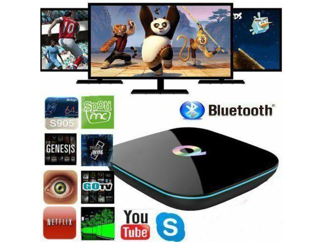 Smart TV Box Q-Box 4K Amlogic S905 Quad-Core 5G Wifi TO Android 5 1 2G+16G  TO - Newegg com