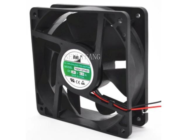 YM2412PMB1 Cabinet Inverter Cooling Fan DC 24V 0 31A 12038 12CM  120*120*38mm 2 Wires - Newegg com