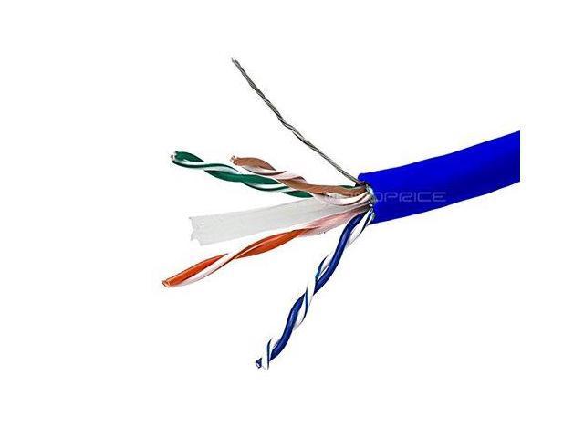 1000ft Blue Cat 5e Cable STP Stranded Ethernet LAN Network BULK WIRE 26AWG RJ45
