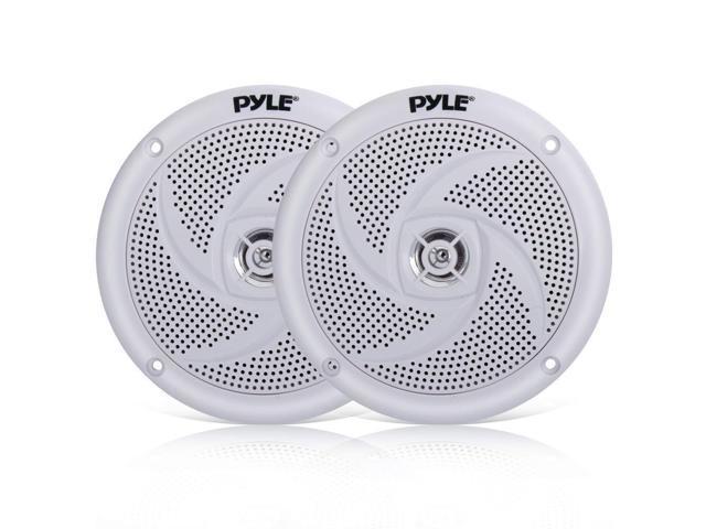 "4 Antenna Pyle PLMR20W Boat Headunit Receiver, 5.25/"" 180W Slim Style Speakers"